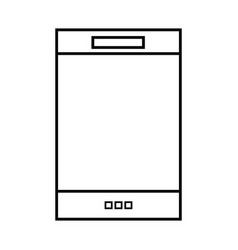line smartphone electronic technology to vector image vector image