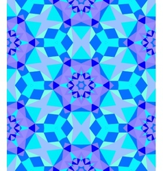 Multicolor geometric pattern in bright blue vector image