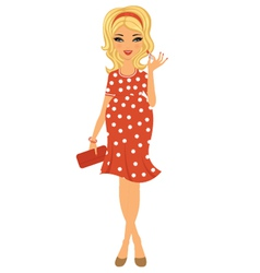 Pregnant beauty with lipstick vector image vector image