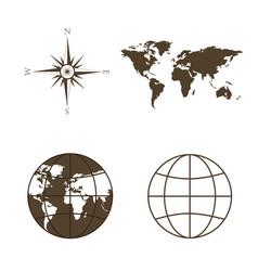 Symbols of global technology international vector