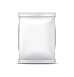 White foil packaging for food isolated vector image