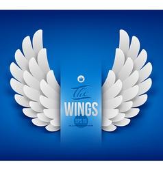 Artificial paper wings - vector image
