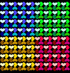 pattern of a grid of hearts vector image