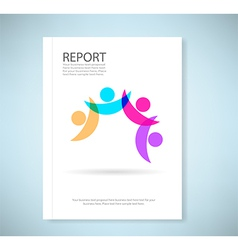 Report concept of friendship - Fourth friends vector image vector image