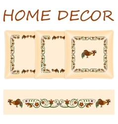 Set decorative pillows vector image