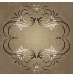 Vintage elegant frame vector image vector image