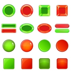 Blank web buttons icons set cartoon style vector