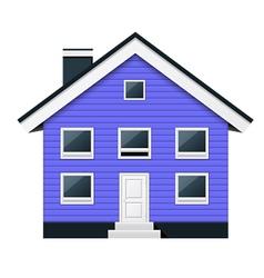 Blue scandinavian condominium - townhouse vector image vector image