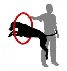 dog training vector image