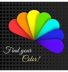 Find Your Color vector image