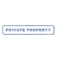private property textile stamp vector image