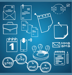 set of social media business finance vector image
