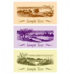 vintage cards set vector image