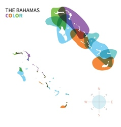 Abstract color map of bahamas vector