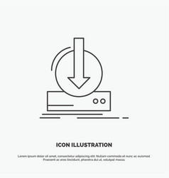 addition content dlc download game icon line gray vector image