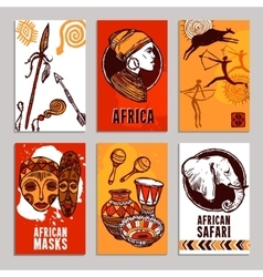 Africa Poster Set vector image