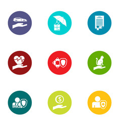 Allocate icons set flat style vector