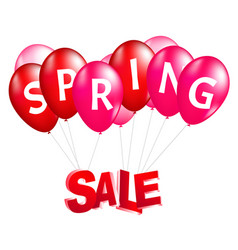 balloons spring sale vector image