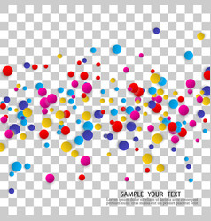 beautiful round confetti on light background vector image