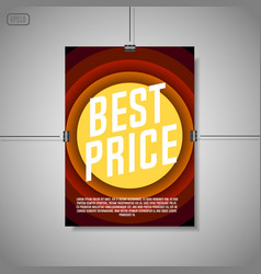 best price background vector image