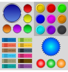 Big set of different colored buttons Trendy modern vector image