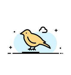 Bird british small sparrow business flat line vector