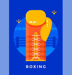 boxing sport poster vector image