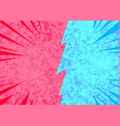 bright pop art comic style opposite sides vector image