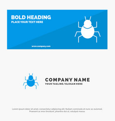Bug nature virus indian solid icon website banner vector
