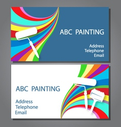 Business card for painting vector image