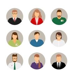 Businesspeople avatars vector image