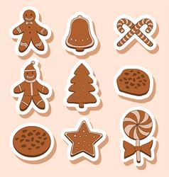Christmas cookies sticker vector