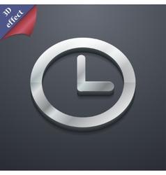 Clock icon symbol 3D style Trendy modern design vector image