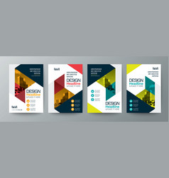 Collection of modern design poster flyer brochure vector