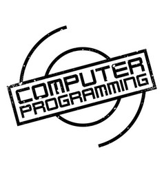 Computer programming rubber stamp vector