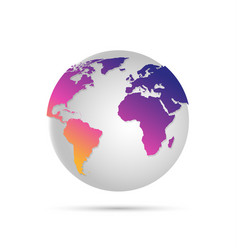 digital world globe vector image