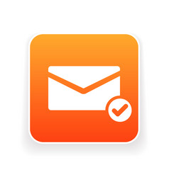 email icon with check sign vector image