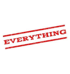 Everything Watermark Stamp vector image