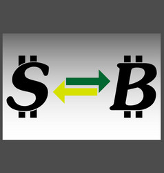 exchange dollar bitcoin vector image