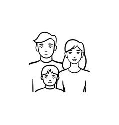 Family members hand drawn sketch icon vector