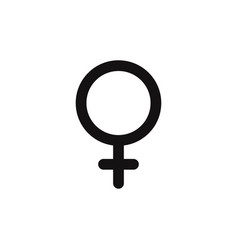 female icon gender symbol vector image