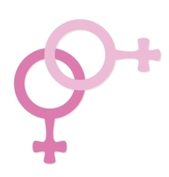 Female icon lesbian vector