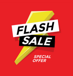 Flash sale banner template design vector