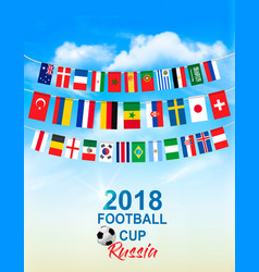 Football 2018 world championship background vector