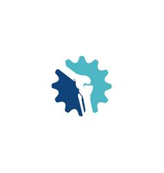 Gear chiropractic logo template vector