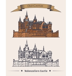 German hohenzollern castle architecture near alps vector image vector image