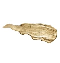 Gold Brass Metal Foil Glitter Brush Stroke Golden vector
