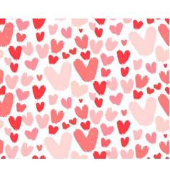 gold glittering heart confetti seamless pattern on vector image