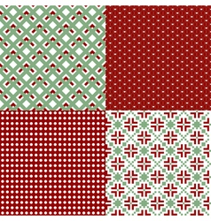 green and red patterns vector image