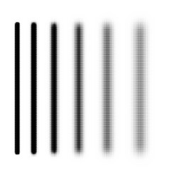halftone stripes collection vector image